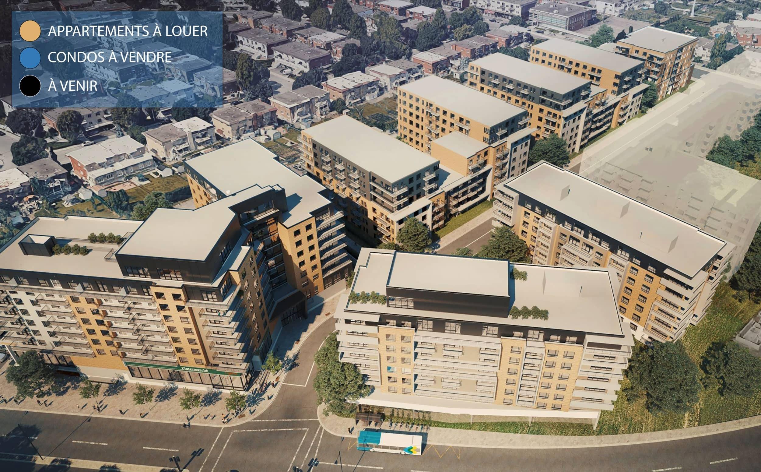 Vue de toutes les phases du projet Città Montréal